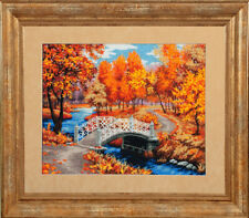 """Bead Embroidery kit GOLDEN HANDS P-009 - """"Autumn melody"""""""