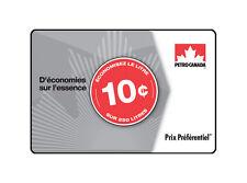 Carte Prix Préférentiel(MC) Petro-Canada(MC) –25$ (économisez 10¢/L sur 250L)