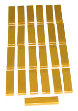 LEGO LOT OF 25 NEW PEARL GOLD 1 X 4 TILES FLAT SMOOTH PIECES PARTS