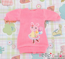 ☆╮Cool Cat╭☆【PR-67】Blythe Pullip Clothes Frock Gown(Rabbit)# Sweet Pink