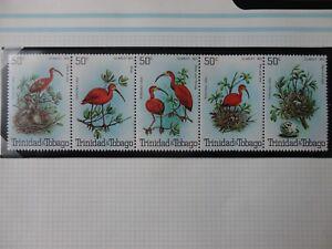 STAMPS MNH trinidad and tobago SCARLET IBIS BIRD BLOCK 1980
