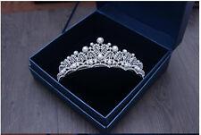 Bride Princess Crown Pearl Crystal Wedding Tiaras Hair Accessories Headbands Hot