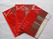 3 Pairs Vintage-New Stockings Size 9.5 Nylons Light-Brown  Sheer Seamless Mesh