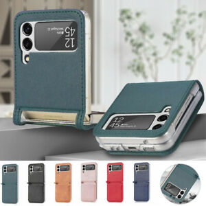 For SamsungGalaxyZFlip35G Shockproof Card Slot Thin Leather Phone Case Cover
