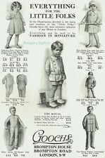 Childrens Fashion Gooch's Brompton House Brompton Road 1915 Advertisement Ad C52