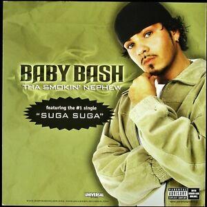 "BABY BASH ""THA SMOKIN' NEPHEW"" 2003 PROMO POSTER/FLAT 2-SIDED 12X12 ~RARE~ *NEW*"