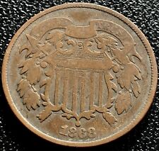 1868 Two Cent Piece 2c Better Grade #15481