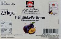 (12,38€/1kg) Schwartau Pflaumenmus gewürzt 100 x 25 g Brotaufstrich Marmelade