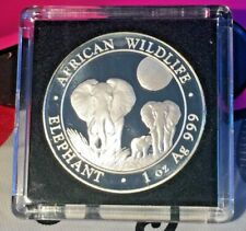 2014 - SOMALI REPUBLIC -100 SHILLINGS AFRICAN WILDLIFE - 1OZ .999 AG SILVER COIN