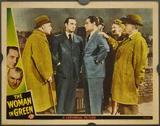 The Woman en Verde 1945 Orig 11X14 Vestíbulo Tarjeta Basil Rathbone Nigel Bruce