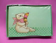 10 Vintage Polar Bear With Ice Cream Blank Cards Neat Stuff Gibson Nib