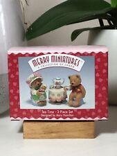 Merry Miniatures - Tea Time 3-Piece Set - 1997 Hallmark