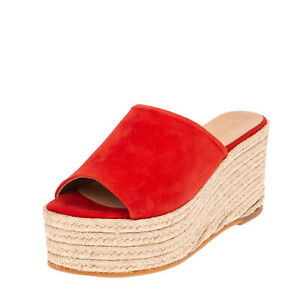RRP€105 SPAZIOMODA Leather Espadrille Mule Sandals EU 36 UK 3 US 6 Made in Italy