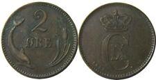 New listing elf Denmark 2 Ore 1887 Rare