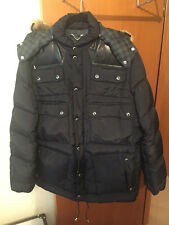 Louis Vuitton Men's Black Damier Leather Down Fur Coat Jacket Size 58/XXL Italy