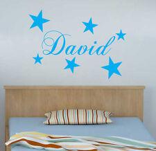 Personalised Name Wall Art Boys Girls Room Children various design Sticker Vinyl