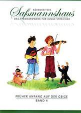 Violine Noten Schule : Früher Anfang auf der Geige  Band 4  Saßmannshaus