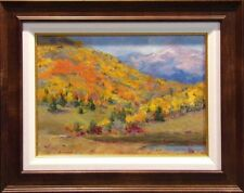 "Linda  Crawford Original Oil Painting ""Gold Country"" Colorado framed"