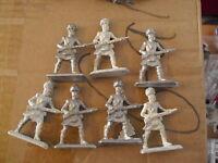 """Lot of 7 Vintage Lead Soldier Figurines 2 3/8"""" LOOK"""