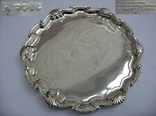 Stunning Large Georgian Styled Victorian Sterling silver Salver 500gms London.