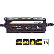 Dunlop Batterieladegerät 6 & 12 Volt, Gel Batterie, Batterie Trainer  für Auto