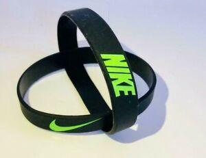 Nike Baller Band Silicone Rubber Bracelet Black Green Neon Elite AF1 RARE