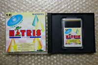 "Hatris ""Good Condition"" Nec PC Engine HU Card Japan"