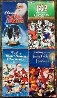 Disney Family Christmas VHS Lot Of 4 Specials & Movies