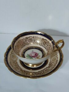 Paragon By Appointment  Cup & Saucer Gold Royal Blue