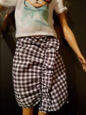 Black & White Checkerboard mini skirt for Barbie doll