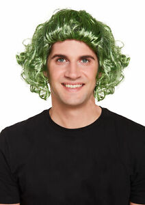 Men's Curly Hair Wig Choc Factory Worker 140g Christmas Fancy Dress Accessory UK