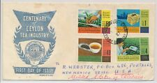 LM74207 Ceylon 1967 to USA tea industry FDC used