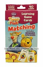 DISNEY 40 Cards MY FRIENDS TIGGER & POOH Learning Game MATCHING+Reward Stickers