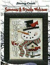 STONEY CREEK Cross Stitch Pattern Leaflet SNOWMAN & FRIENDS WELCOME