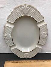 """LENOX Ashtray Seashell Design Oval Ivory Made in USA 8"""" X 6"""" Sea Shells"""