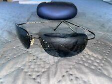 Maui Jim MJ 502 KAPALUA Titanium Polarized Gray Gradient Sunglasses w/ Case