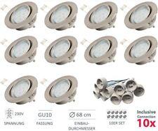 10 LED Einbaustrahler Deckenspot 230V schwenkbar GU10 Einbauleuchte Lampe 3W Set
