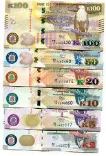 ZAMBIA 2 5 10 20 50 100 KWACHA 2018 P-NEW UNC FULL SET 0F 6