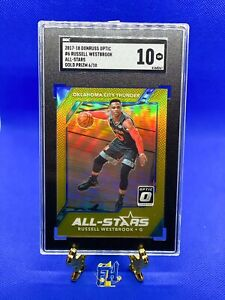 2017-18 Panini Optic #6 Russell Westbrook All Stars ⭐️ Gold Prizm /10 💎 Mint 10