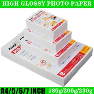 100pcs 5 Inch 6 Inch 7 Inch Photo 3R 4R 5R A4 Paper Glossy Photo Studio Paper