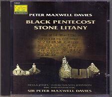 Peter MAXWELL DAVIES Black Pentecost, Stone Litany CD Della Jones Wilson-Johnson