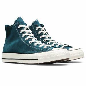 Converse Unisex SUEDE CHUCK 70 High Top Shoes Midnight Turq/Black/Egret 166214C