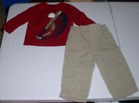 VERY CUTE BABY INFANT BOYS BASEBALL OUTFIT CIRCO JUMPING BEANS SIZE 12 MONTHS