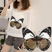 Iron On Patch Embroidered APLique Shirt Pants Sewing Holes ClothesButterfly HF