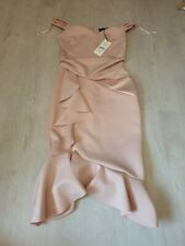Womens Lipsy London Front Lace Panel Dress Bnwt Rrp £65 Size Uk 10