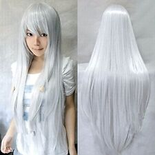 Black White Pink Red Blue Grey Silver Brown Long Cosplay Wig Fancy Straight Wigs