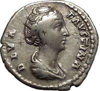 Faustina I Antoninus Pius wife RARE Silver  Ancient Roman Coin Throne i52139