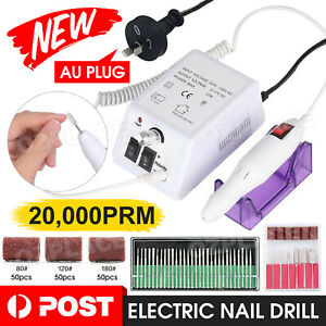 New Electric Nail File Drill Tool Acrylic Art Pedicure  Salon Machine Bits Set
