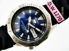 SEIKO SPORTS 7S36 00L0 BLUE DIAL SEE THRU AUTO DAY DATE MIDSIZE DW1270 WATCH $1