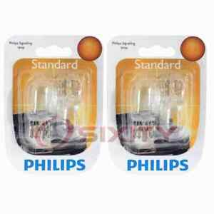 2 pc Philips Front Side Marker Light Bulbs for Mitsubishi Montero Sport wb